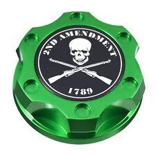 Green Oil Filler Cap 2nd Amendment Emblem For Ford 7.3L 6.0L 6.4L Power stroke