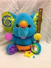 PLAYSKOOL Busy Elephant Plush Toy ~ Baby Toddler Activity Touch Feel Rattle