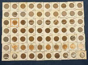 1861 - 1964 British Penny Lot - Free Shipping USA