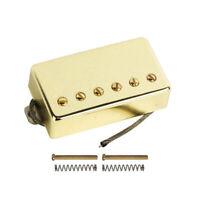 Gold Alnico 5 Humbucker Electric Guitar Neck Pickup Passive 50mm for LP Guitar