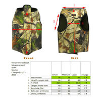 Tourbon Camo Hunting Gun Dog Vest Coat Clothing Chest Safety Neoprene Parka S-XL