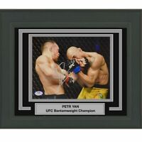 FRAMED Autographed/Signed PETR YAN UFC MMA Fighting 8x10 Photo PSA/DNA COA Auto