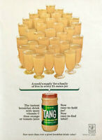 1963 Tang Instant Breakfast Drink PRINT AD A Week's Supply for a Family