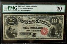 1880 $10 LEGAL TENDER - RED SEAL - PMG - VERY FINE 20 - #A26990684 - ppD -Fr#113