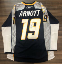 Autographed Reebok Nashville Predators Jason Arnott NHL Hockey Jersey Blue XL