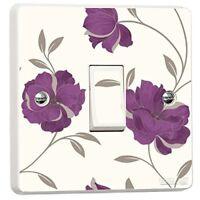 Purple Floral Light Switch Sticker Vinyl Arthouse Opera Charleston