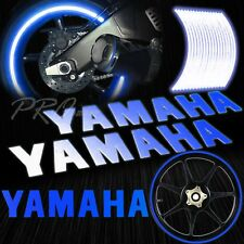 "Reflective Logo Decal+16""17""18"" Rim Tape/Wheel Stripe Sticker for Yamaha Blue"