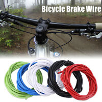 BICYCLE BIKE LINED BRAKE CABLE HOUSING Rubber PVC Steel For MTB Road Bikes JS