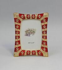Tisch-Rahmen Metall Glassteinen gold emailliert 9987196