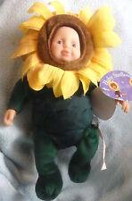 Anne Geddes Baby Sunflower Doll Sonnenblume Puppe Bean Bags