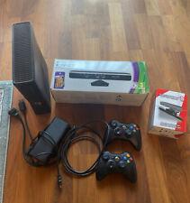 Microsoft Xbox 360 S 250 GB schwarz mit 2 Controllern, Kinect & 5 Spielen