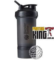 BLENDER BOTTLE PROSTAK 500ML BLACK PROTEIN SHAKER CUP BPA FREE PRO STAK 16 OZ