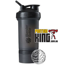 BLENDER BOTTLE PROSTAK 500ML BLACK PROTEIN SHAKER CUP BPA FREE PRO STAK 16 OZ