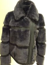 REISS LEATHER AND SHEARLING JACKET SIZE S