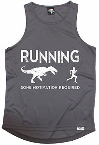 Running Some Motivation Required MENS DRY FIT VEST birthday gym running gift