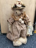 Vintage 1986 Bunnies by the Bay ALICE #23 Mohair Bear w Tag SUZANNE 13""