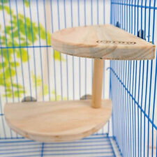 Pet Wooden Cage Platform Shelf Stand Board for Chinchilla Hamster Squirrel Bird