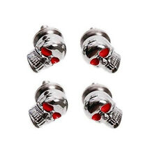 4pcs Skull Heads License Plate  Tag Frame Bolts Screw for Car Motorcycle ATV 5mm