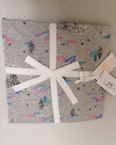 Debenhams-Grey Flower Print Cotton Pyjama Set size 12-14 UK