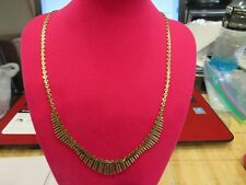 """14 K Solid Fancy Yellow/Rose  Gold Chain 16""""  16.6 gr"""