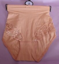 Marks & Spencer UK8 EU36 US4 new antique pink cotton rich lace trim knickers
