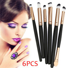 1 Set of 6PCS Cosmetic Makeup Brush Lip Makeup Brush Eyeshadow Brush Black UK