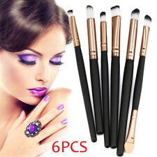 1 Set of 6PCS Cosmetic Makeup Brush Lip Makeup Brush Eyeshadow Brush Black FREE