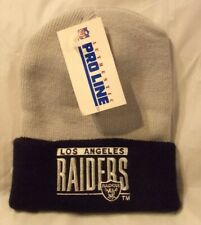 Vintage Los Angeles Raiders Beanie Hat Cap Black / Gray Made in USA