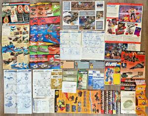 HUGE LOT of Original Authentic G.I. Joe 1980's Paperwork Ads Cards Instructions!