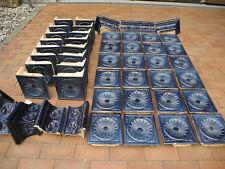Ofenkacheln vom antiken Kachelofen abgebaut  schönes blau Hersteller DOOS Baden