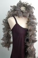 "GUINEA PLUMAGE BOA - NATURAL Black/White 4-6"" Feathers 72"" (Halloween/Costume)"
