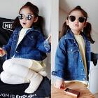 Girls' Denim Jeans Fall Jacket Pocket Button Up Jacket Coat Warm Outwear Clothes