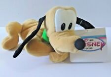 "THE DISNEY STORE PLUTO MINI BEAN BAG PLUSH TOY 8"" STUFFED ANIMAL NEW (A)"
