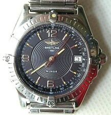 BREITLING WINGS A10050 AUTOMATIC VTG 98 SWISS WATCH, GENTS, ST-ST, DATE-WR, BOX