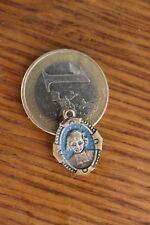 Vintage Catholic Médaille Pendantif St Philomiene Priez pour nous enamel