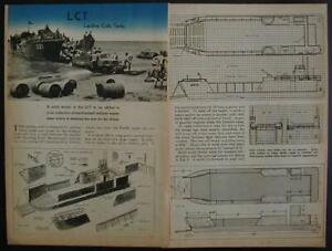 LCT Model WWII Landing Craft Tanks 1944 How-To build PLANS Wooden Model