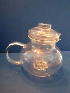 PRIMULA 12 FLOWERING TEAS 40 OZ. 5 CUP STOVETOP GLASS TEA POT & TEA INFUSER