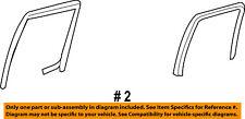 FORD OEM Window Glass-Rear Door-Run Channel Right 7L3Z1625766A