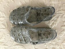 GAP Toddler Girls' Clear Glitter Jellies Jelly Sandals - Size 10