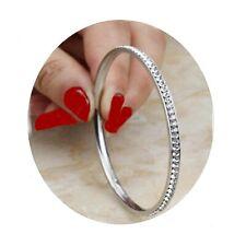 fa005c370a95dc Bracciale in acciaio inox rigido da donna braccialetto schiava zirconi  argento