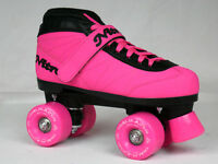 NEW CUSTOM Epic Nitro Turbo STRAWBERRY FIZZ Pink Blk Outdoor Quad Roller Skates