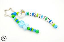 Taschenbaumler/Schlüsselanhänger mit Namen ★ Löwe/Schulkind in blau/grün ★ Neu