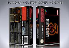 MORTAL KOMBAT 3. PAL VERSION. Box/Case. Super Nintendo. BOX + COVER. (NO GAME)