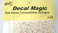 """New Decal Magic Glass Accents Abstract Stars """"Bronze"""" Fire Fusing Art 4 x 4 Inch"""