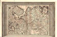 RUSSLAND NORDEN Landkarte von Pieter van der Aa 1720 - schönes Original!