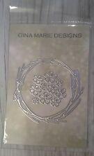 Gina Marie designs metal cutting dies - Dogwood flower wreath die set