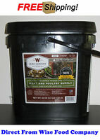 Wise Food Company 60 Servings Freeze-Dried Meat Bucket+Free Rice Emergency Food