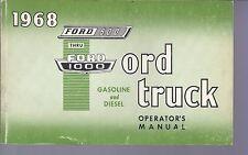 1968 FORD MEDIUM & HEAVY TRUCK SERIES 500-1000 OWNERS MANUAL GAS / DIESEL