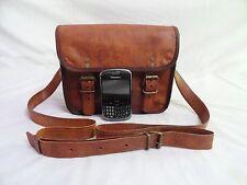 "7x9"" Handmade Real Leather Messenger Bag Passport Camera Handbag Crossbody Bag"