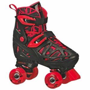 Roller Derby Trac Star Boys Girls Adjustable Roller Skates Size US 3-6  Black